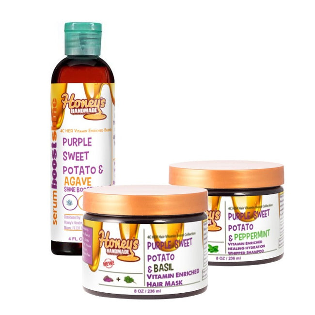 4C Her Hair Vitamin Boost Collection - Honey's Handmade