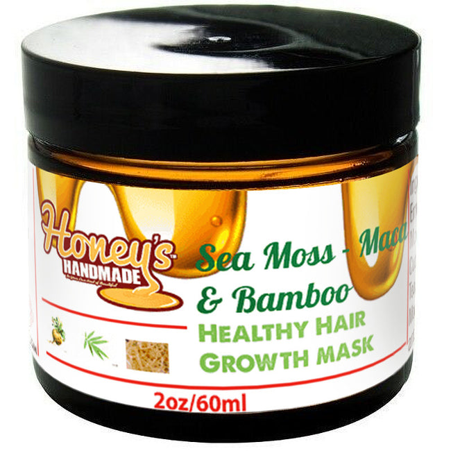 Sea Moss - Maca & Bamboo Healthy Hair Growth Mask - Honey's Handmade