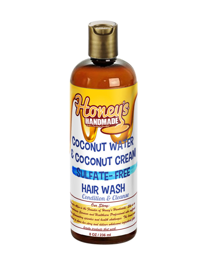 Coconut Water & Coconut Cream Sulfate-Free Hair Wash - Honey's Handmade