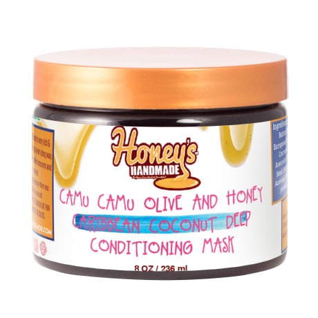 Camu Camu Olive & Honey Caribbean Coconut Deep Conditioning Mask - Honey's Handmade