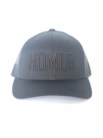 HOMER Black X 2 Trucker Hat