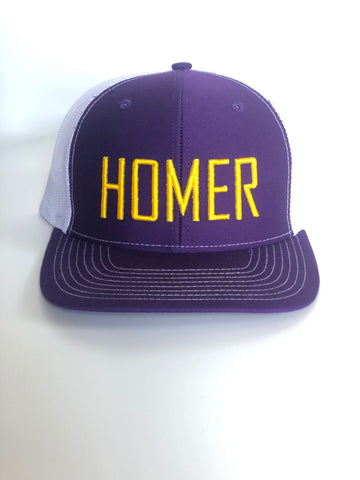 HOMER Purple and Gold Trucker Hat