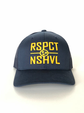 RSPCT NSHVL Navy and Gold Trucker Hat