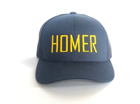 HOMER Navy and Gold Trucker Hat