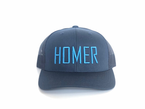 HOMER Two-Tone Blue Trucker Hat
