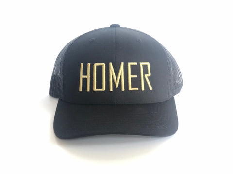 HOMER Black and Gold Trucker Hat