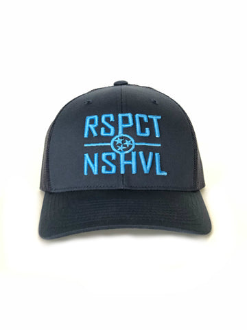 RSPCT NSHVL Two-Tone Blue Trucker Hat