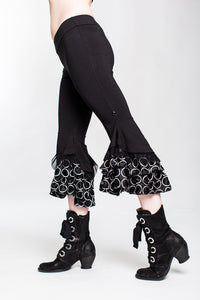 LIMITED EDITION Polka Dot Monster Silk Ruffle Capri Pant