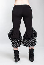 Load image into Gallery viewer, LIMITED EDITION Polka Dot Monster Silk Ruffle Capri Pant