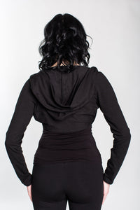 Black Hooded Bolero