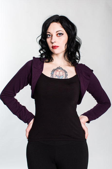 Plum Hooded Bolero