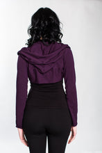 Load image into Gallery viewer, Plum Hooded Bolero