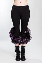 Load image into Gallery viewer, Shiny Purple Monster Ruffle Capri Pant