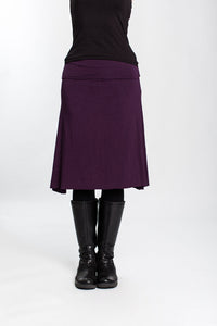 Plum Grab & Go Skirt