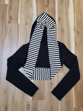 Load image into Gallery viewer, Striped Hooded Bolero