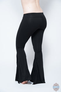Black Organic Cotton & Bamboo Cinch Pants
