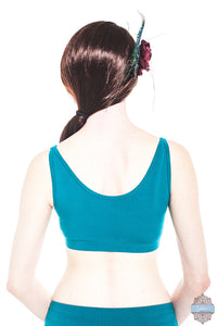Teal Organic Cotton & Bamboo Corrie Top