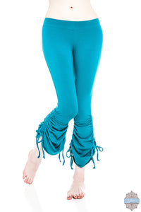 Teal Organic Cotton & Bamboo Cinch Pants