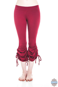 S/32 ONLY! Red Organic Cotton & Bamboo Cinch Pants