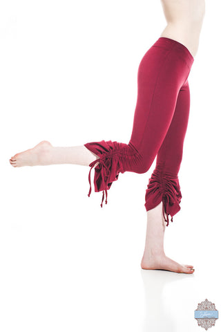 Red Organic Cotton & Bamboo Cinch Pants