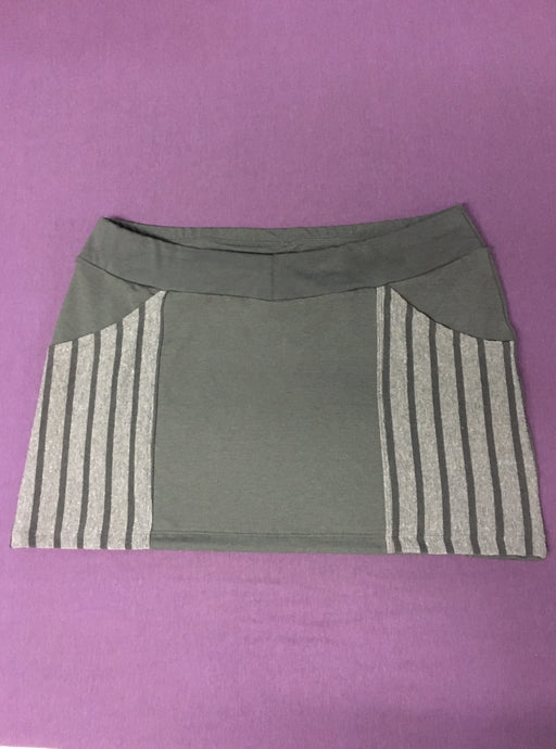 Stripe Pocket Mini Skirt