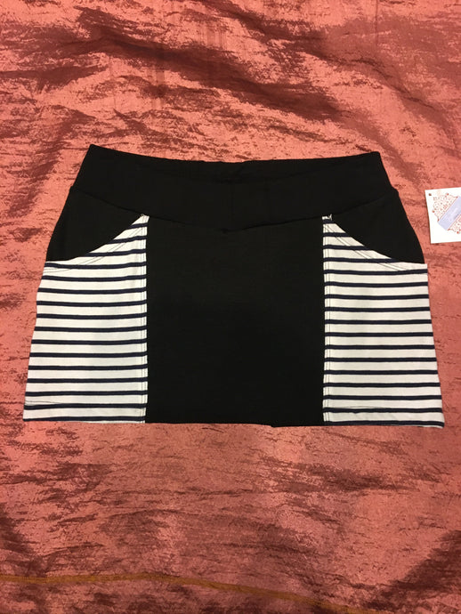 Nautical Stripe Pocket Mini Skirt