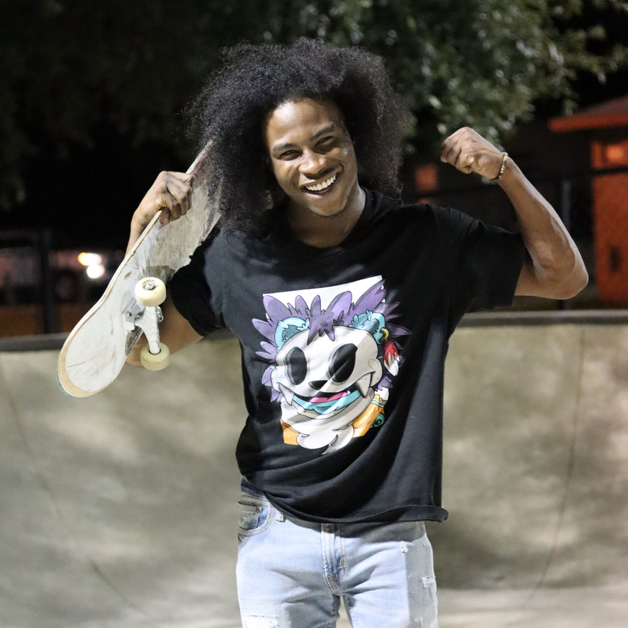 skating happy quality black model shirt american apparel streetwear t6 designs brand