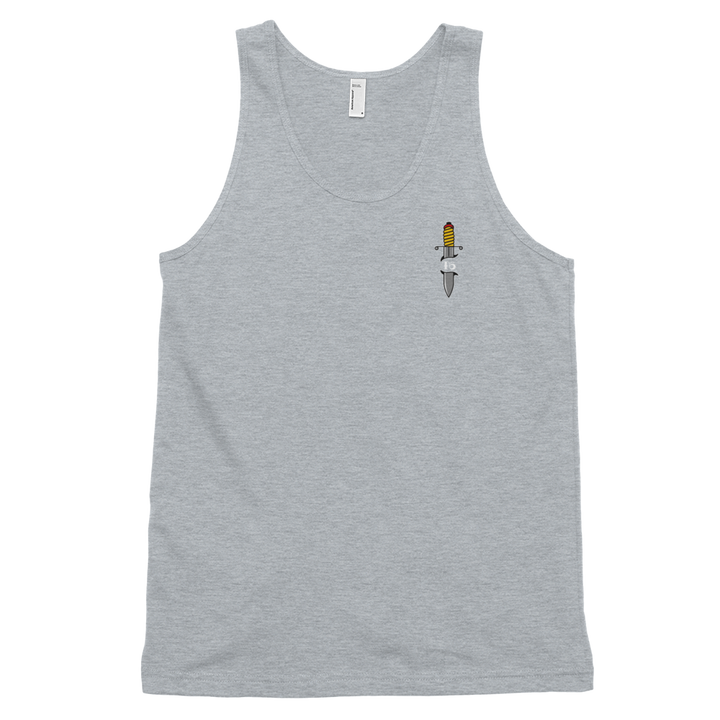 Tanky B - T6 Designs DJ Smooth. Made on Grey American Apparel unisex tank top that boasts a nice drape, this tank is ideal for layering or dealing with the summer heat. Design is DTG and American Traditional inspried.