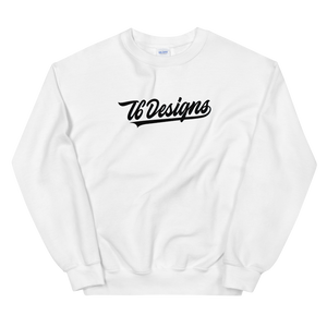 Jr. Varsity - T6 Designs White It's a classic fit sweater that's made with air-jet spun yarn for a soft feel and reduced pilling. These crew necks are made with 50% cotton, 50% polyester, athletic rib knit collar with spandex, and is pre-shrunk. The design is Direct To Garment.