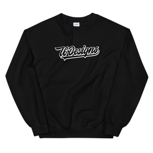 Jr. Varsity - T6 Designs Black It's a classic fit sweater that's made with air-jet spun yarn for a soft feel and reduced pilling. These crew necks are made with 50% cotton, 50% polyester, athletic rib knit collar with spandex, and is pre-shrunk. The design is Direct To Garment.