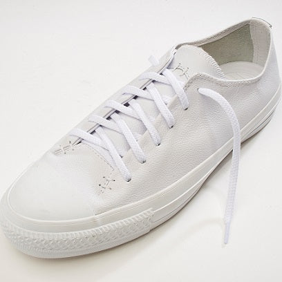 strong flat 6 mmt trainer lace in white on Converse shoe