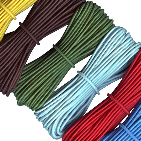 3mm Round Elastic Cord Stretch Bungee Cord In Multiple Colours