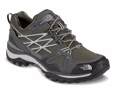 North Face walking shoe with grey and white laces