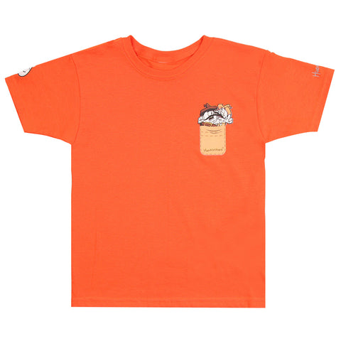 Playera junior Huevos Rancheros bolsa - Naranja