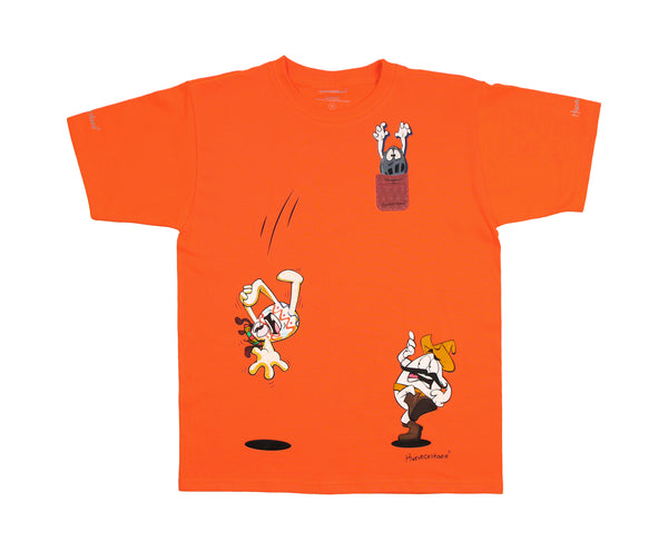Playera Niño Collage Personajes - Naranja