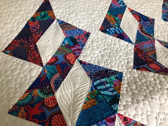 Triple Twist Digital Quilting Pattern - Gulf Coast Quilting, digital quilt pattern, longarm quilting