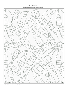 99 bottles e2e, digital quilting file