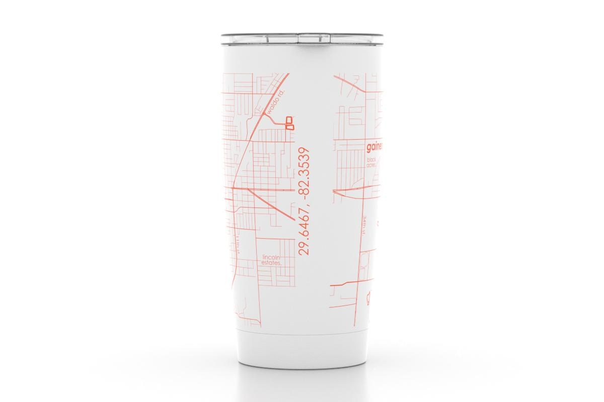 University Of Florida Map.Gainesville Fl Univ Of Florida Color College Town Map 20 Oz