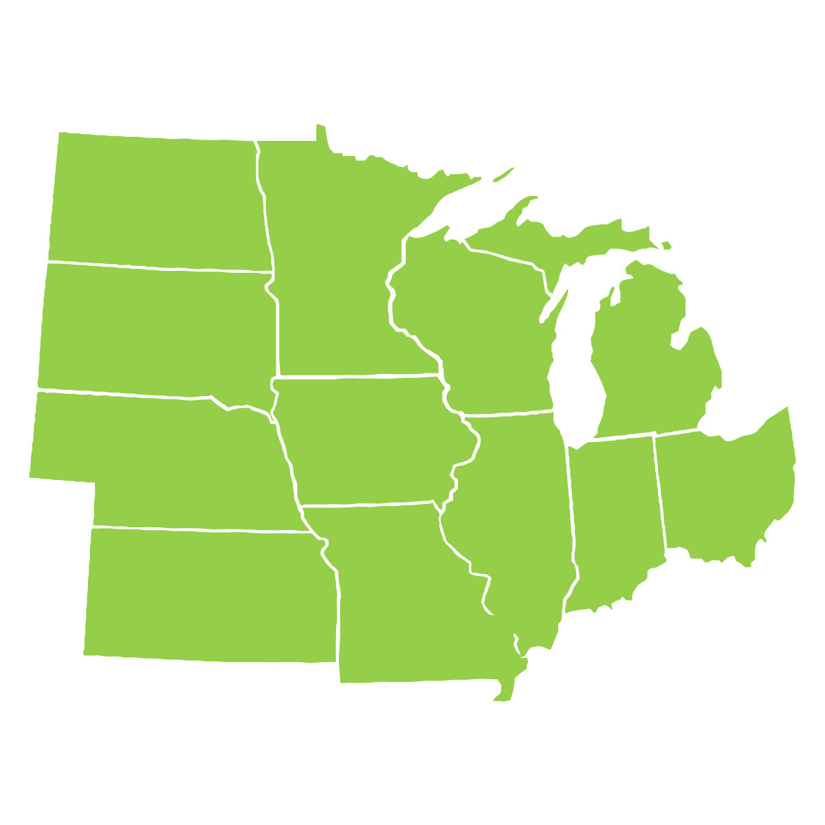 Ways To Map The Midwest Midwest CHP Technical Assistance - Us highway map midwest