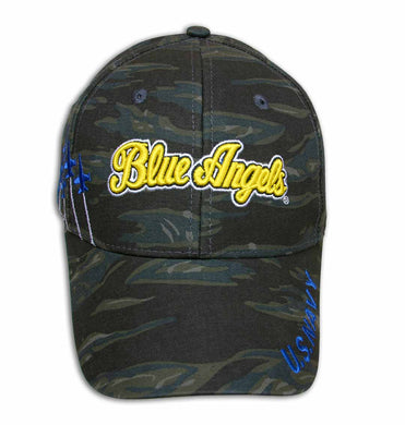 Blue Angels Embroidered Camo Cap
