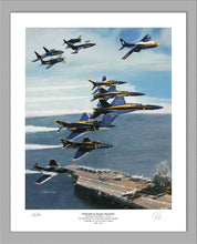 "Load image into Gallery viewer, Blue Angels 75th Anniversary ""Hellcats to Super Hornets"" Premier Edition Giclee"