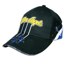 Load image into Gallery viewer, Blue Angels Black Tri Color Diamond Solo Embroidered Cap