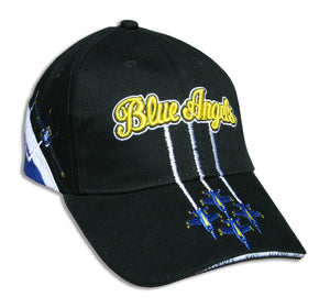 Blue Angels Black Tri Color Diamond Solo Embroidered Cap