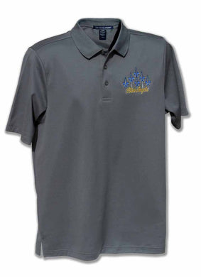 Blue Angels Charcoal Performance Embroidered Polo