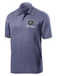 Blue Angels Navy Heather Polo