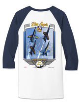 Load image into Gallery viewer, Blue Angels Heavy Cotton 3/4 Sleeve Raglan T Shirt