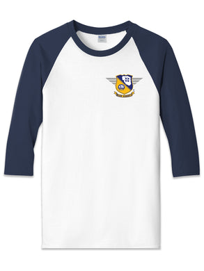 Blue Angels Heavy Cotton 3/4 Sleeve Raglan T Shirt