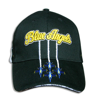 Blue Angels Black, Tri-Color Diamond Solo Embroidered Cap