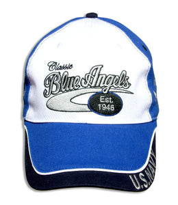 Blue Angels White, Royal & Navy Classic Embroidered Cap