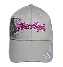 Load image into Gallery viewer, Blue Angels Ladies Tonal Khaki & Pink Bling Embroidered Cap